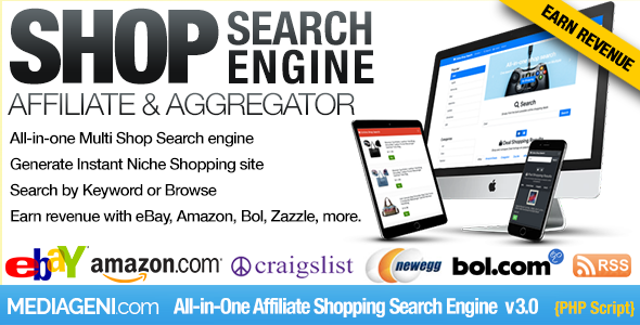 Instant Affiliate Shopping Search Engine
