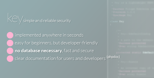 Key - Secure any page in seconds!