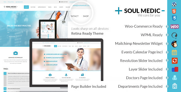 SoulMedic | Hospital WordPress Theme