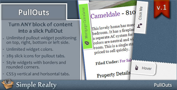 PullOuts - jQuery Slide-out Widgets