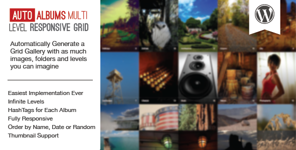 WP Auto Photo Albums – Multi Level Image Grid