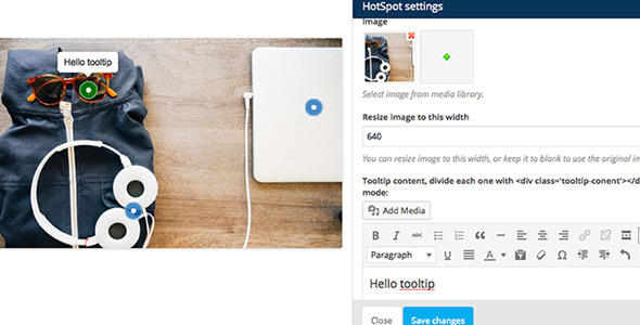 WPBakery Page Builder Add-on Image Hotspot with Tooltip