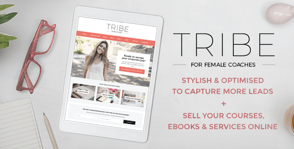 Tribe Coach - Feminine Coaching Business WordPress Theme - 4