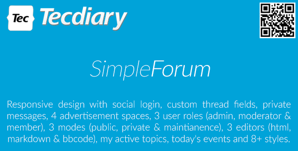 Simple Forum - Responsive Bulletin Board