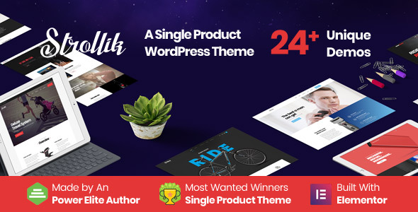 Strollik - Single Product WooCommerce WordPress Theme - 1