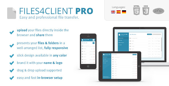 Files 4 Client Pro - Easy File Transfer