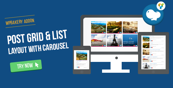 WPBakery Page Builder - Post Grid/List Layout With Carousel (formerly Visual Composer)