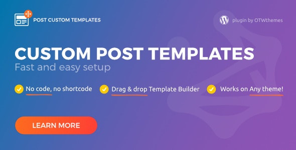 Post Custom Templates Free Download not nulled