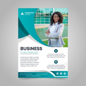 Corporative-annual-business-report-with-photo freepik vector
