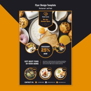 Modern-flyer-template-breakfast-restaurant freepik vector